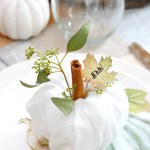 Thanksgiving Place Settings Pumpkin Napkin Fold Clean And Scentsible