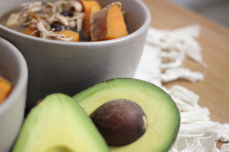 Sweet Potato Black Bean Tortilla Soup