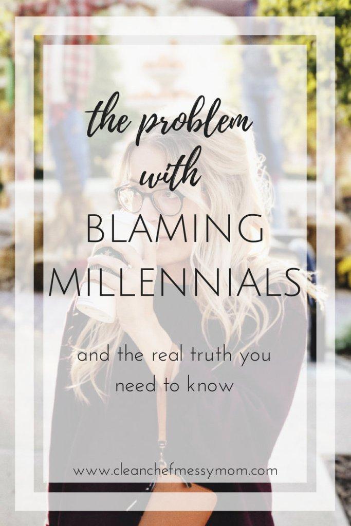 blaming millenials