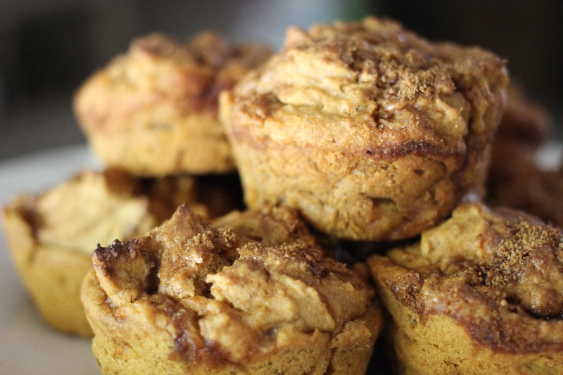 sweet potato pecan muffins
