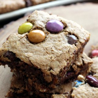 Flourless Monster Cookie Bars
