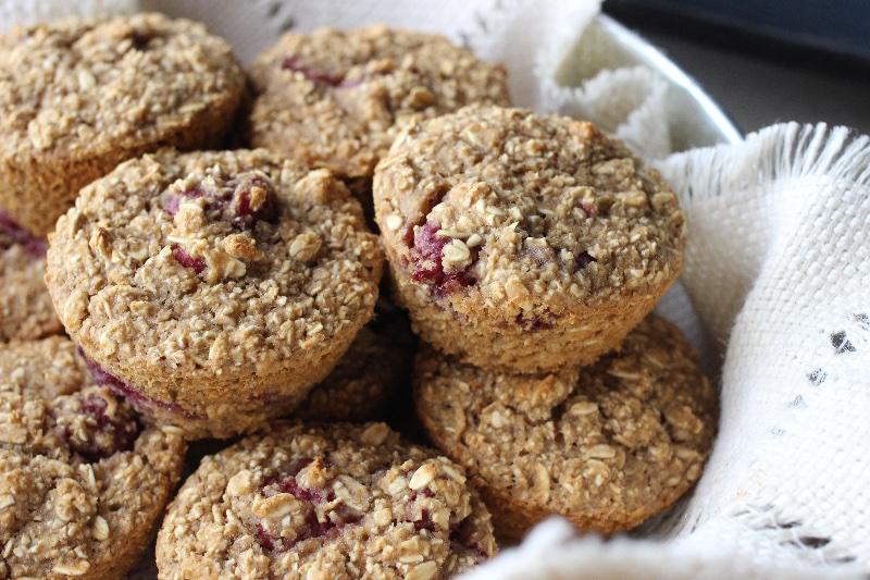 Vegan Raspberry Oat Muffins