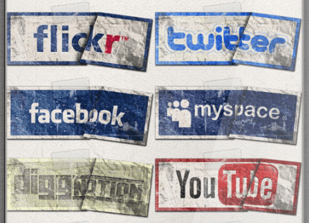 Social Media Icons Facebook Twitter YouTube