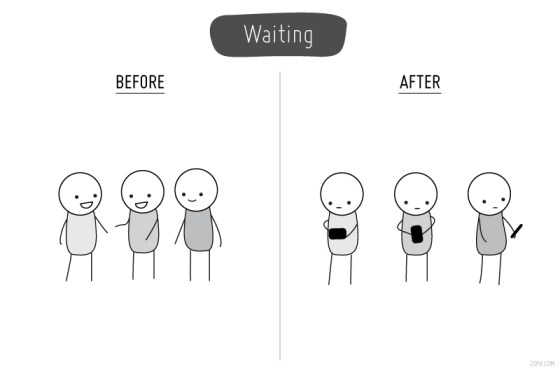 Before & After Cell Phones - Waiting