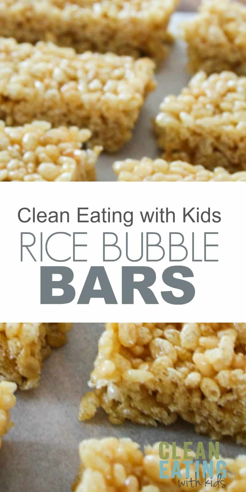 Clean Eating Rice Krispie Treats - 3 Ingredient No Bake Healthy Rice Krispy Treats- Just three ingredients and only takes 5 minutes to make.