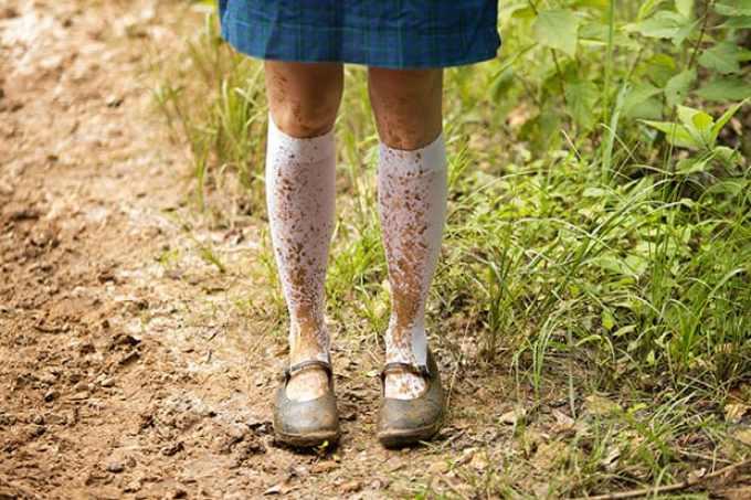 Muddy kids