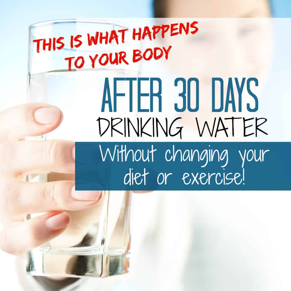 The effect of 30 days of water drinking