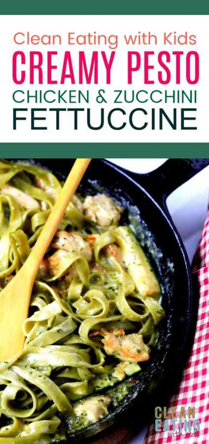 Dinner does not get easier than this!!! Quick Creamt Pesto Chicken and Zucchini Fettuccine. OMG!!! YUMMM!