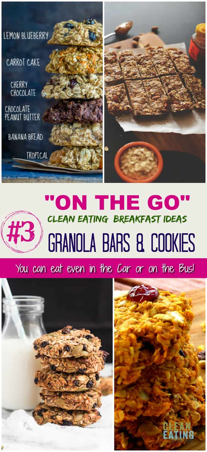 Kids Missing Breakfast on School mornings because you are always in a hurry? Check out these On the Go Clean Eating Breakfast Ideas.