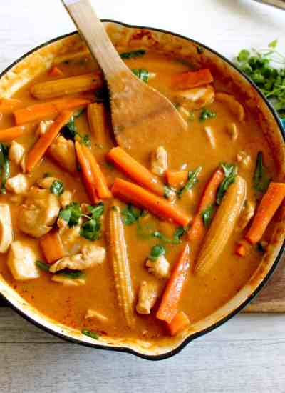 Clean Eating with Kids   Red Thai Chicken Curry