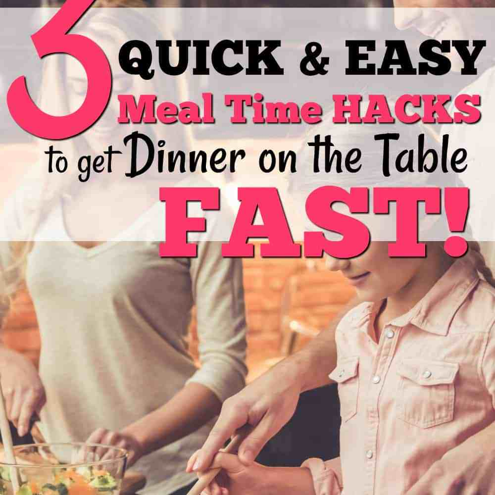 I love these tips on how to get dinner on the table quickly for a fast weeknight dinner.