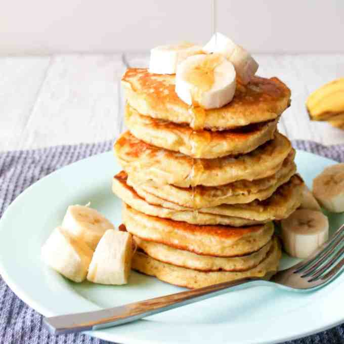 OK, so these are incredible! Three ingredient banana pancakes. Just make a BIG stack coz they go down fast!