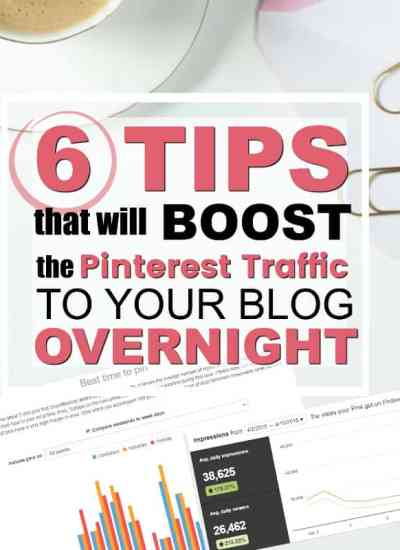 6 Things you can do right now to BOOST your Pinterest Traffic Overnight.