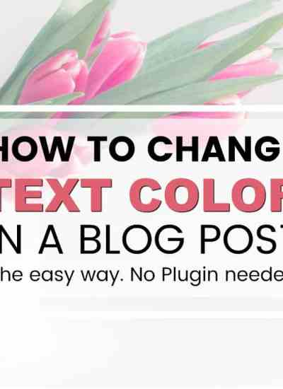 how to change the text color in a blog post