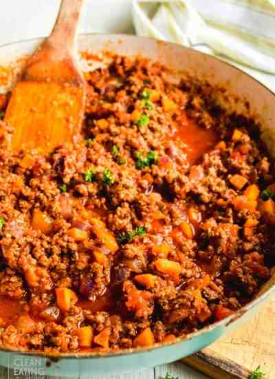 Clean Eating Bolognese