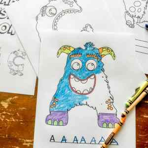 Teach your child to read: 26 Fun Printable Alphabet Monster Coloring Pages
