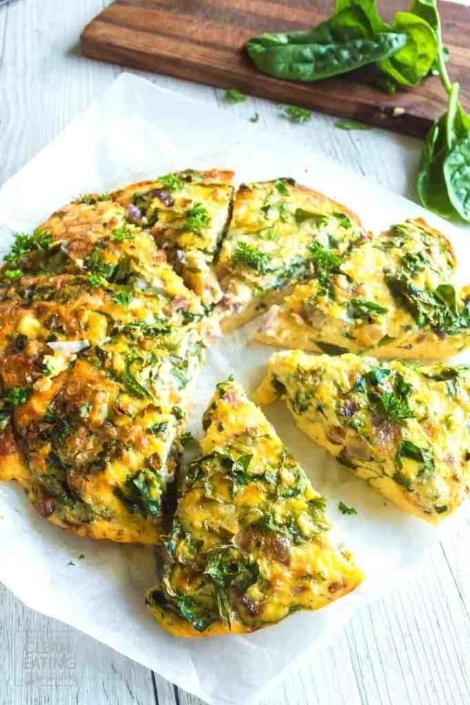 Clean Eating Crustless Spinach & Feta Quiche