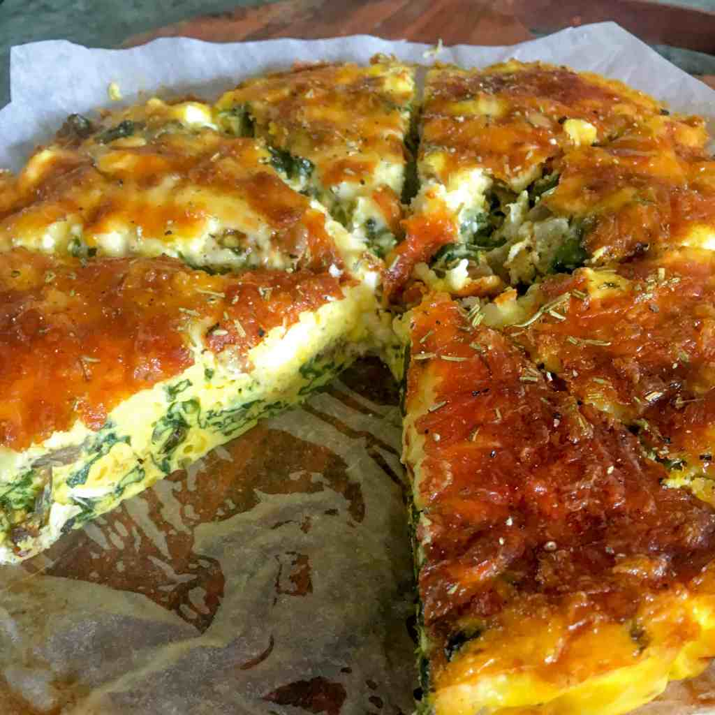 Clean Eating Spinach and Feta Quiche