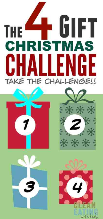 As a Mom, I encourage you to give this 4 gift challenge a go because it has transformed Christmas for our family.