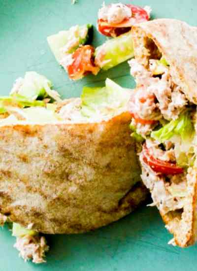 clean eating tuna wholewheat pockets