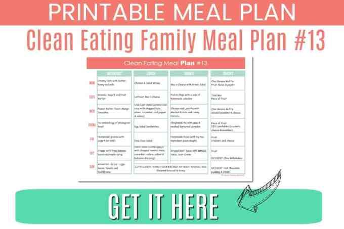 clean eating meal plan #13 download
