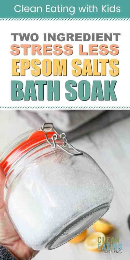 This Homemade Epsom Salts Bath Crystals recipe is an all natural and effective homemade stress relief therapy that you can whip up in your own kitchen in under a minute.