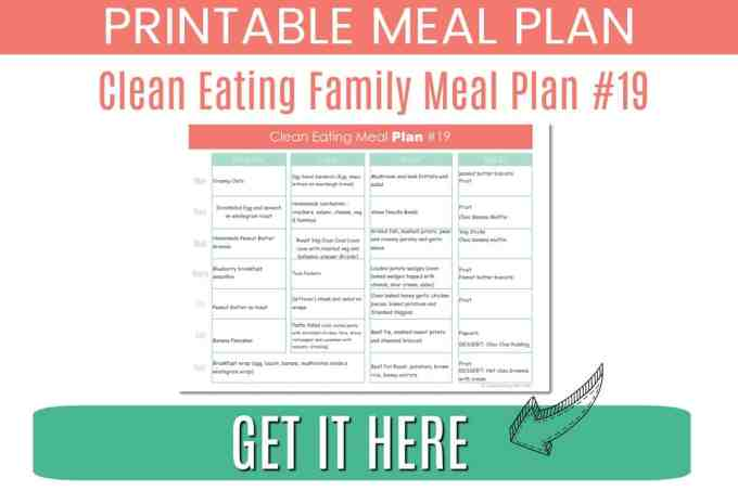 7 Day Clean Eating with Kids Mealplan #18