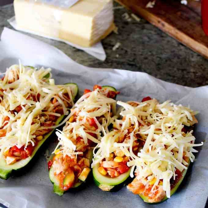chicken stuffed zucchini boats