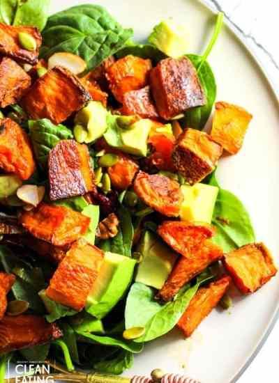 clean eating warm harvest salad