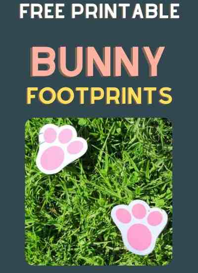 printable bunny footprints