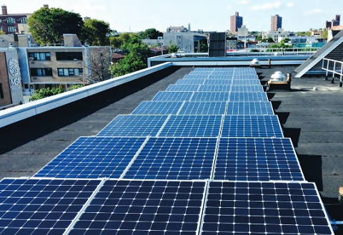 Marcus Garvey Village solar array. Photo courtesy of L+M Development Partners, Inc.