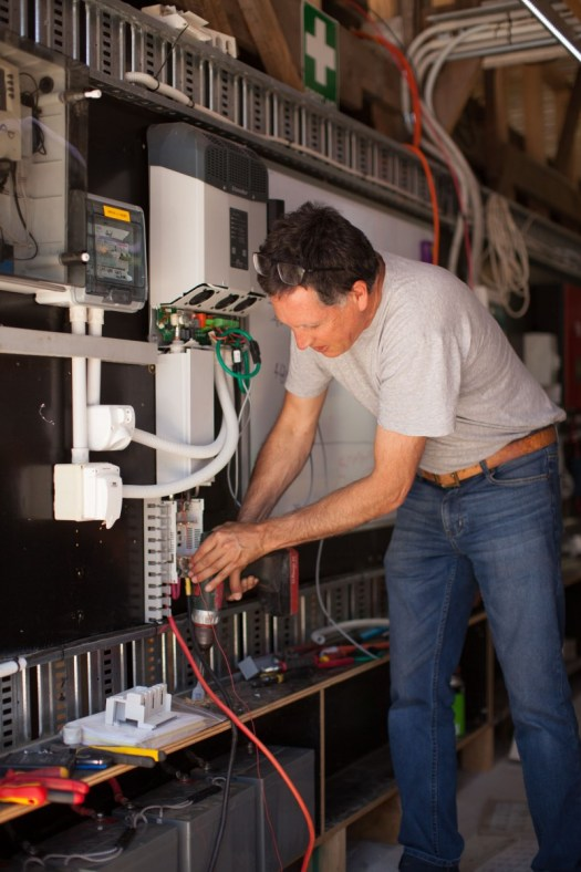 Rod installing the Studer-Innotec XTM4000 inverter