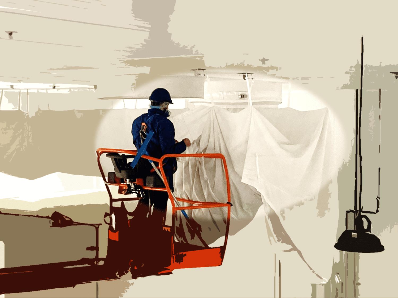 Nettoyage de gaine textile de ventilation: des ouvrier qualifiés