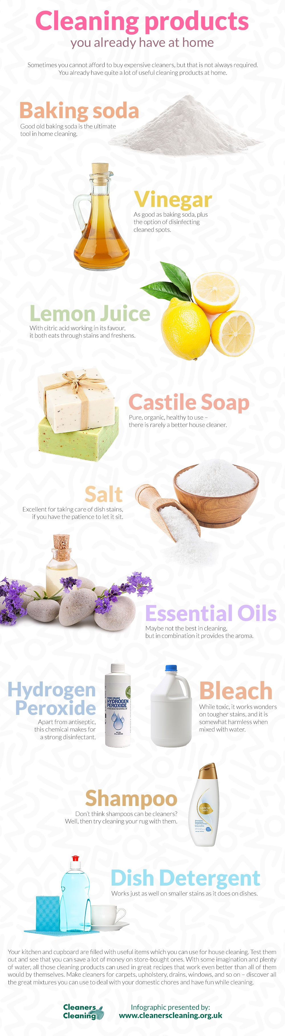 Share the infographic love. Cleaning Products You Already Have at Home  Infographic  Cleaning