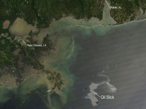 Oil Slick Gulf Mexico NASA