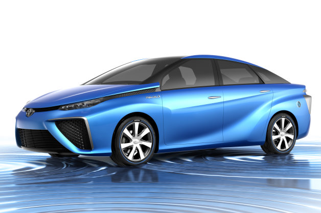 Toyota-fuel cell-electric car