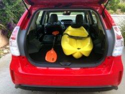 2017 Toyota Prius V, storage