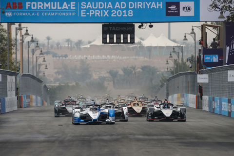 After a chaotic day caused by heavy rain on Saturday morning, BMW i Andretti Motorsport's Antonio Felix da Costa won the very first race of a brand-new season of the ABB FIA Formula E Championship in Saudi Arabia by fending off Formula E's world champion Jean-Eric Vergne.