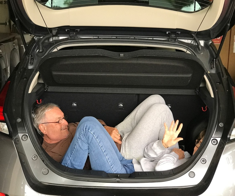 Nissan Leaf Plus trunk