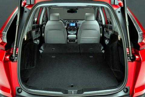 All the hybrid technology is hidden under the floor; 2020 Honda CR-V Hybrid