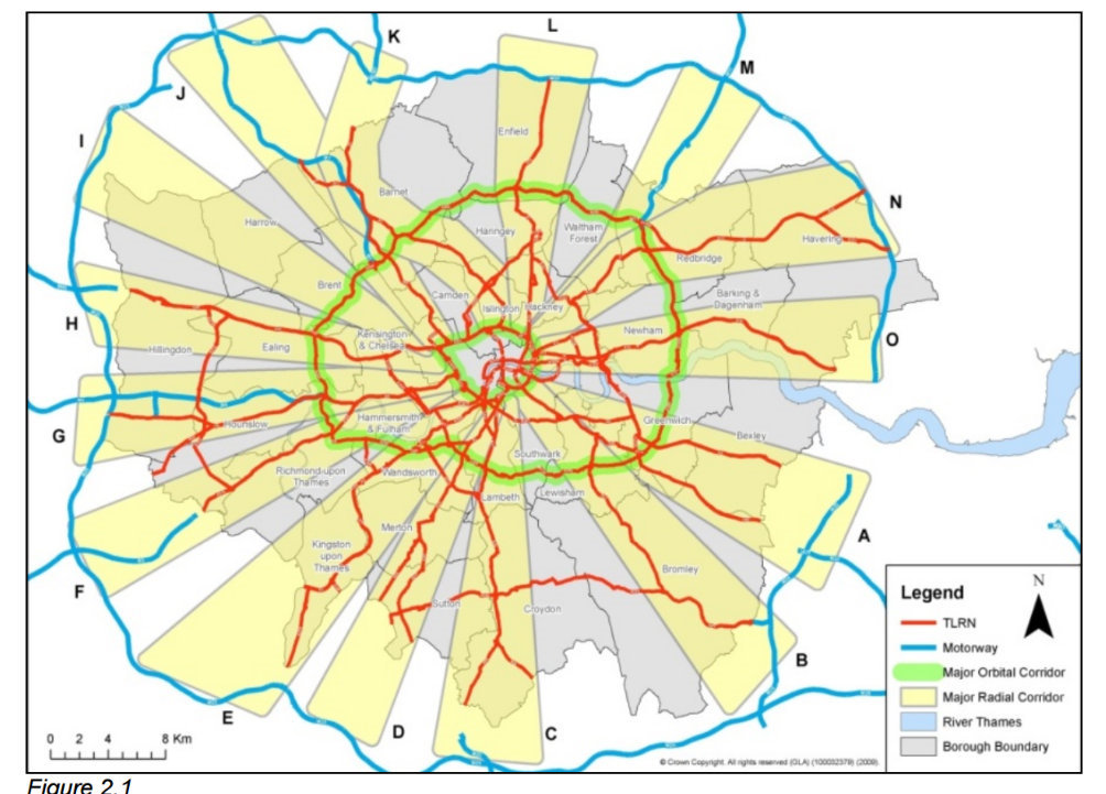 Tfl Road Nework map