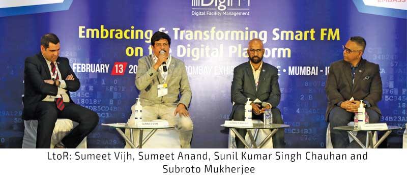 LtoR Sumeet Vijh, Sumeet Anand, Sunil Kumar Singh Chauhan and Subroto Mukherjee