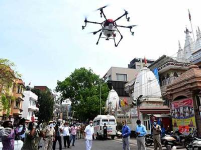 Drones deployed for sanitisation in Varanasi