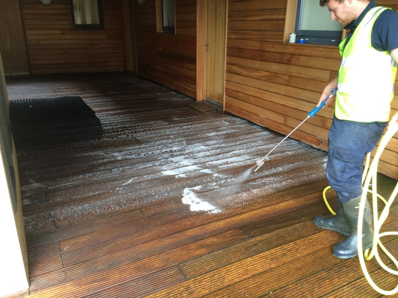 image of patio cleaning in formby merseyside