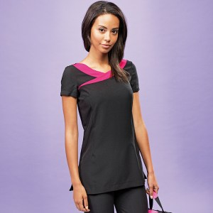 Ivy cleaning tunic contrast neckline