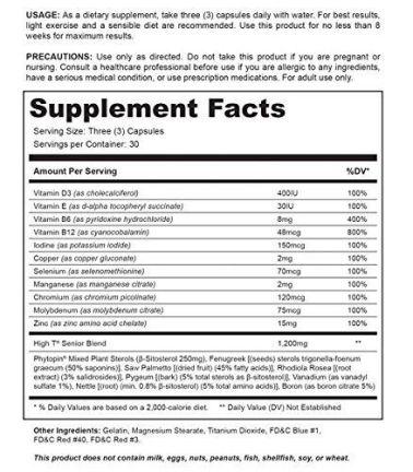 High T Senior Ingredients Review