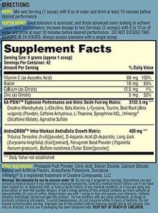 Ka Pow Pre Workout Ingredients