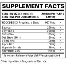 NooCube Ingredients