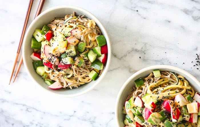 Soba zoodles recipe