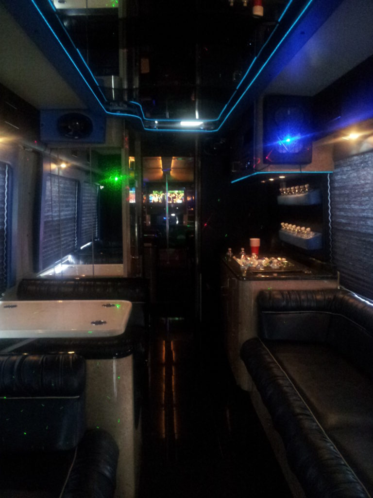 Rockstar Party Bus Limo Clean Ride Limo